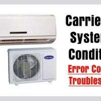 Carrier Split Air Conditioner AC Error Codes - Troubleshooting