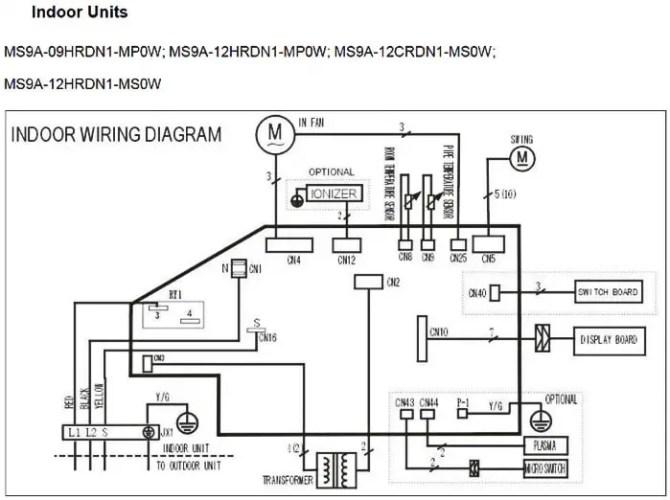 mini split air conditioner wiring diagram  roketa 150