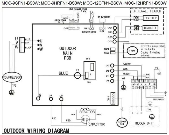 mitsubishi ductless split wiring diagram