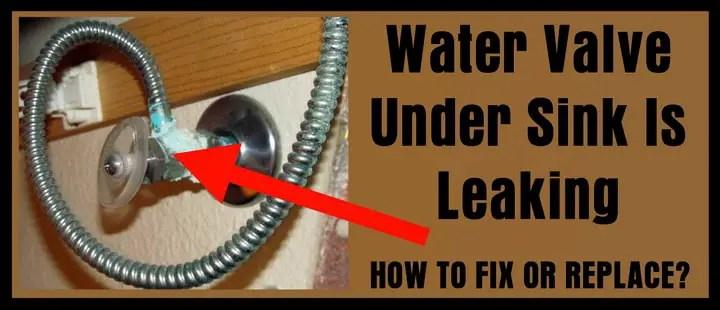 water supply valve under kitchen sink