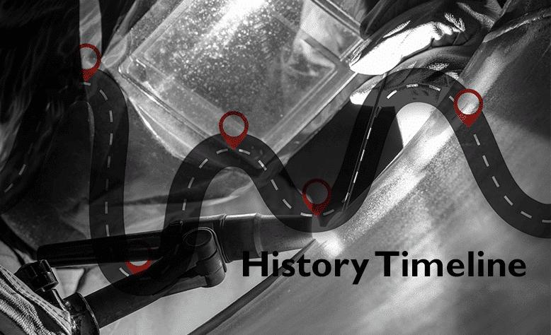 Welding history timeline