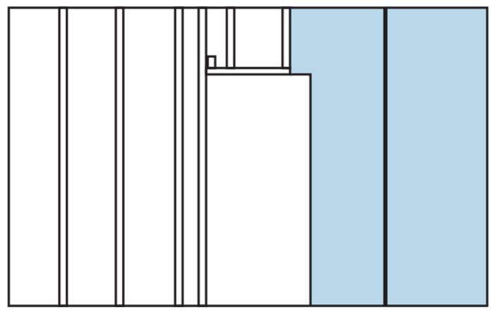 Un exemple de l'installation de profils de rack dans la partition