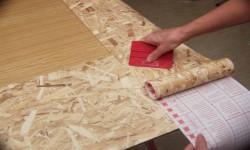 cork wallpaper gluing