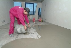 Preparation of the concrete floor surface