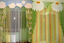 curtains in the children's room