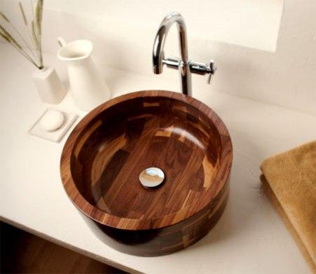 wooden bathroom sink