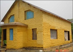 wall insulation of the house with polyurethane foam 2