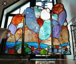 Stained glass screen