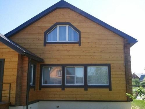 imitation timber facade