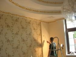carpet wallpaper gluing
