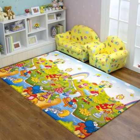 carpet on the floor in the nursery