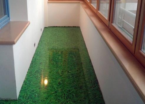 self-leveling floors on the balcony