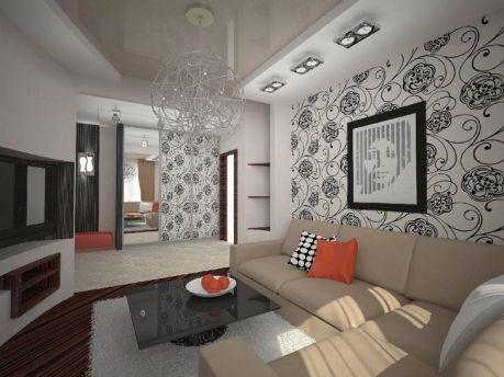 wallpaper for living room in modern style