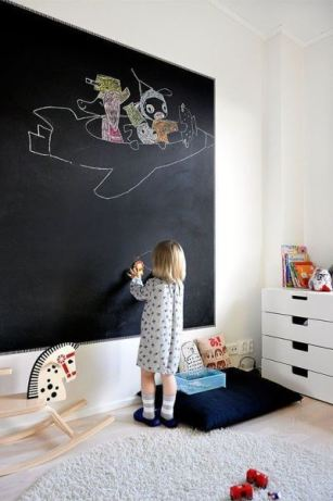 wall decoration in children's slate paint 5