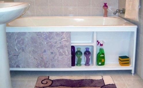 sliding screen under the bath 2