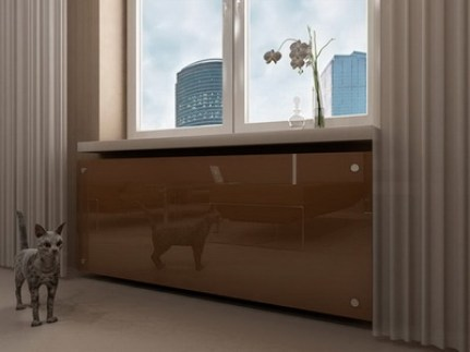 hide heating radiator glass
