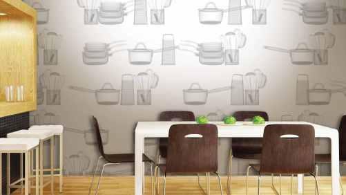 vinyl wallpaper in the kitchen 2