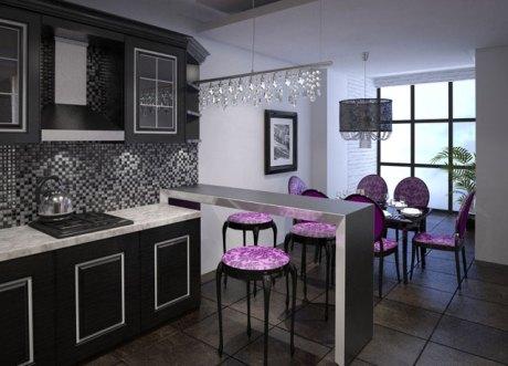 kitchen zoning bar counter 2
