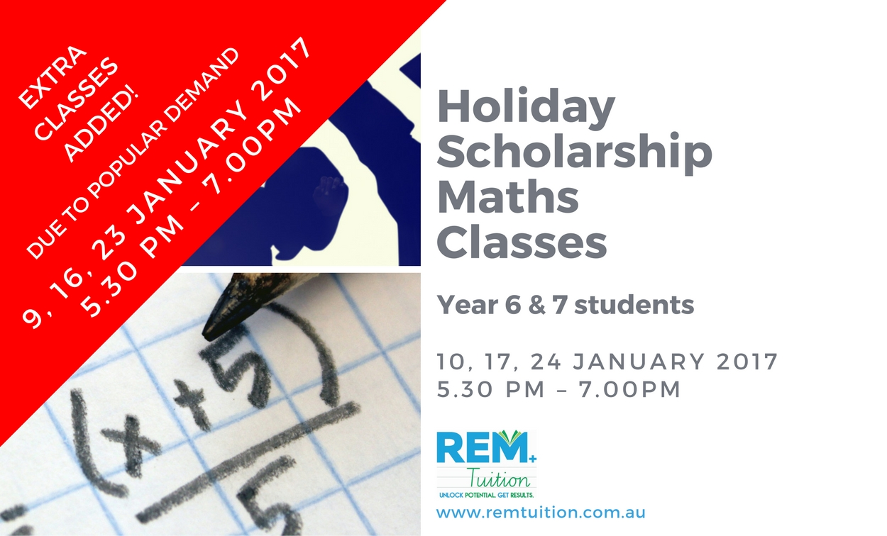 Holiday Scholarship Maths Classes