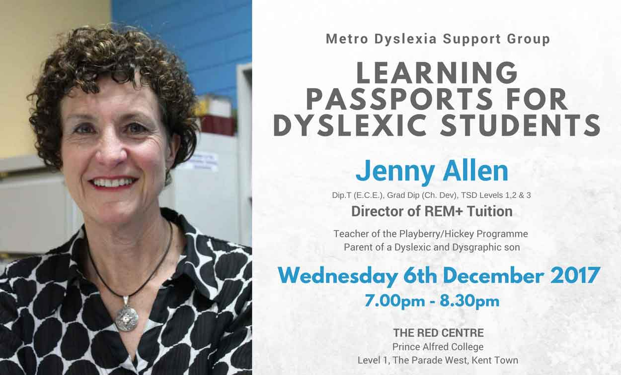 Learning Passports for Adelaide Dyslexic Students