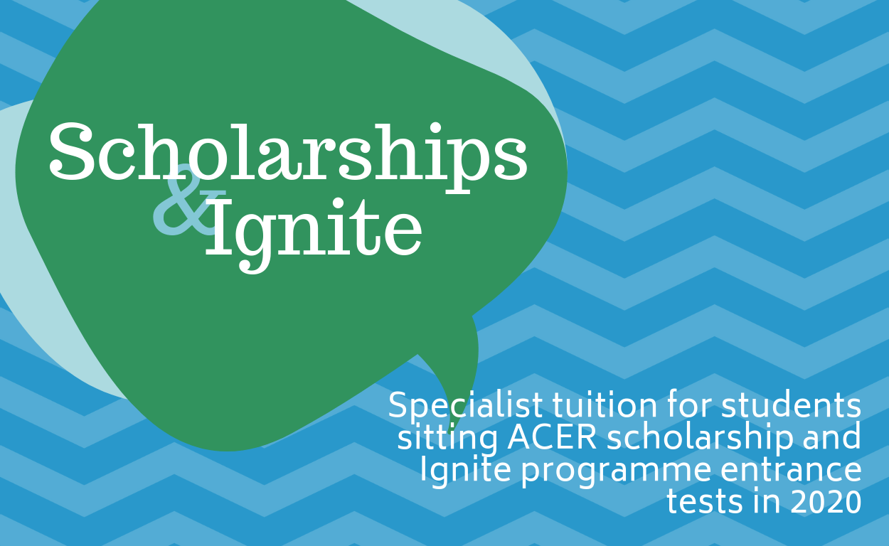 2019 Scholarship and IGNITE Programme Entry Test Tuition