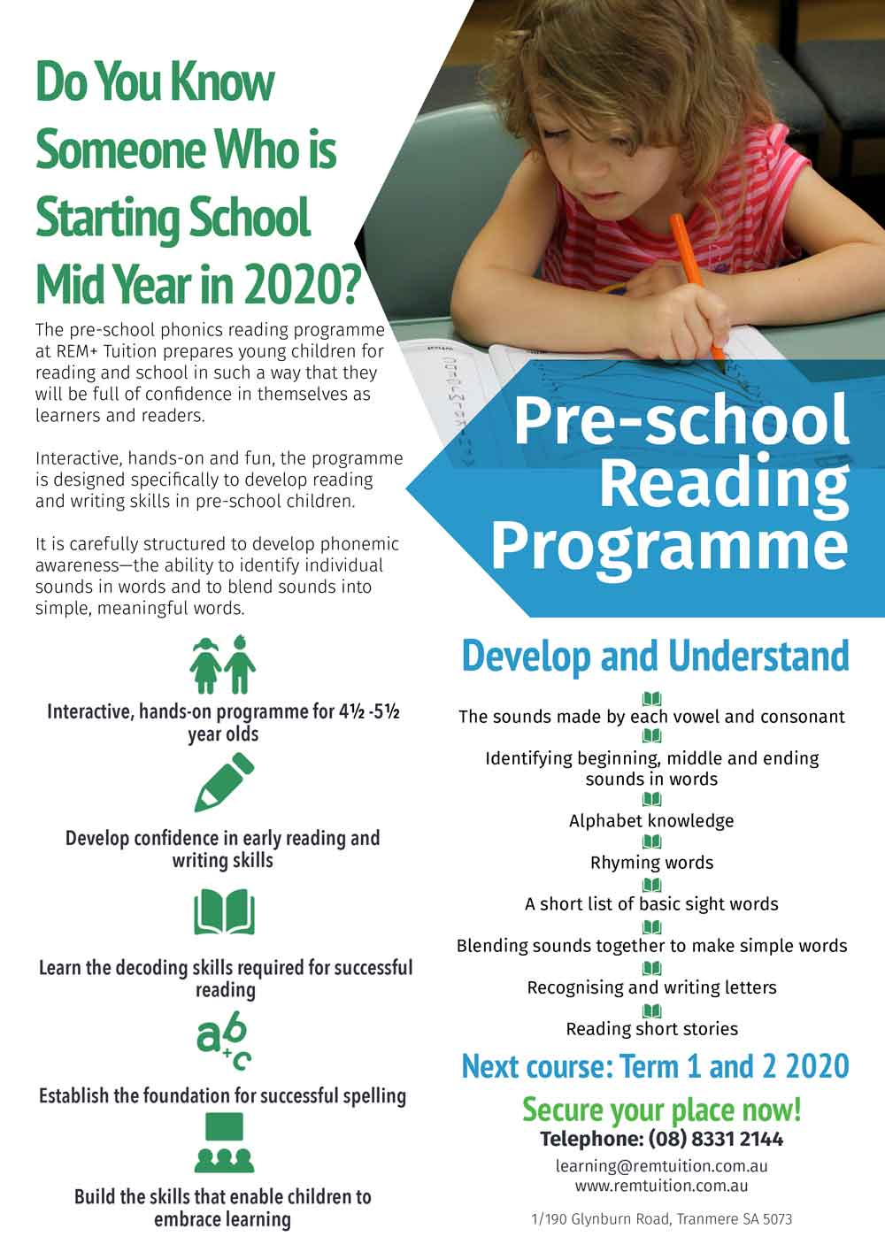Pre-school Reading Programme Adelaide