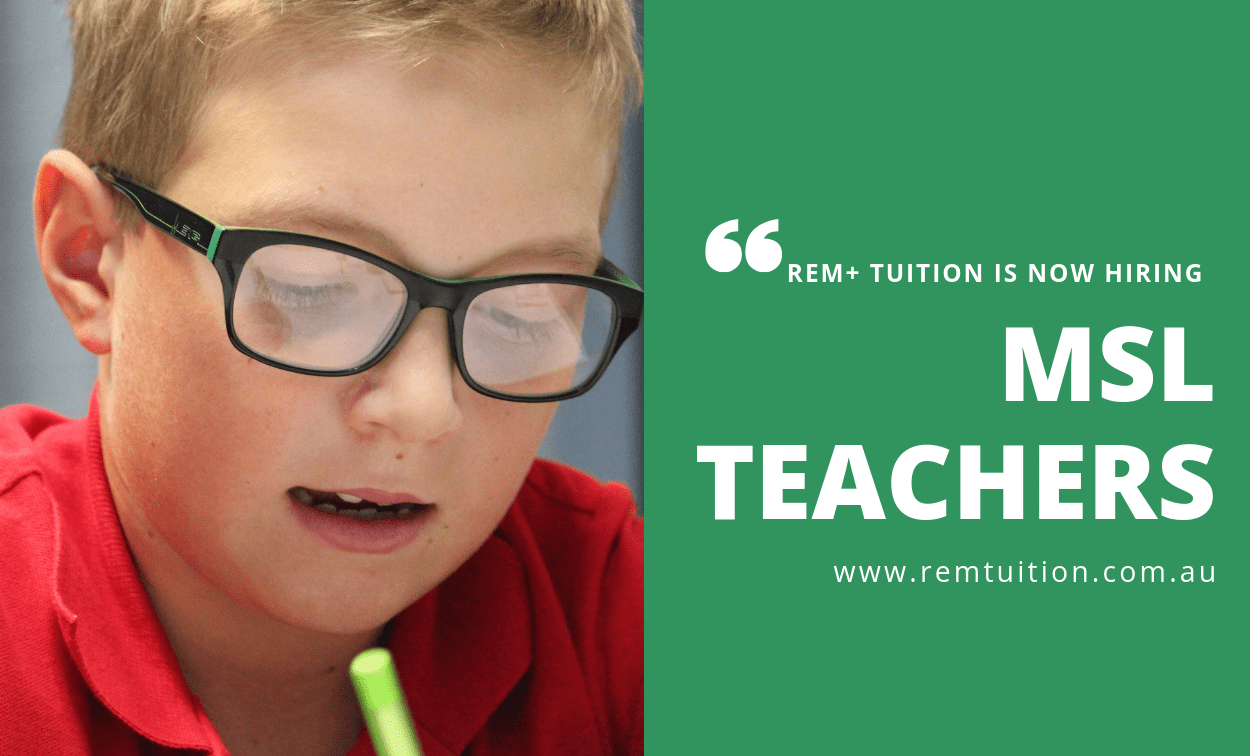 REM+ Tuition is Hiring MSL Teachers