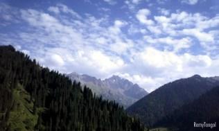 The sky over the mountains of Kazahstan, 2006.