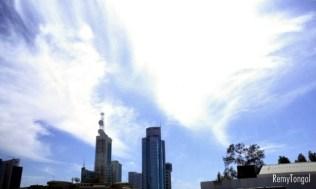 The sky over Kuwait City, 2004.