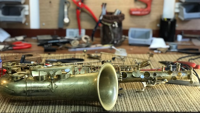 saxofoon reparatie in Amsterdam
