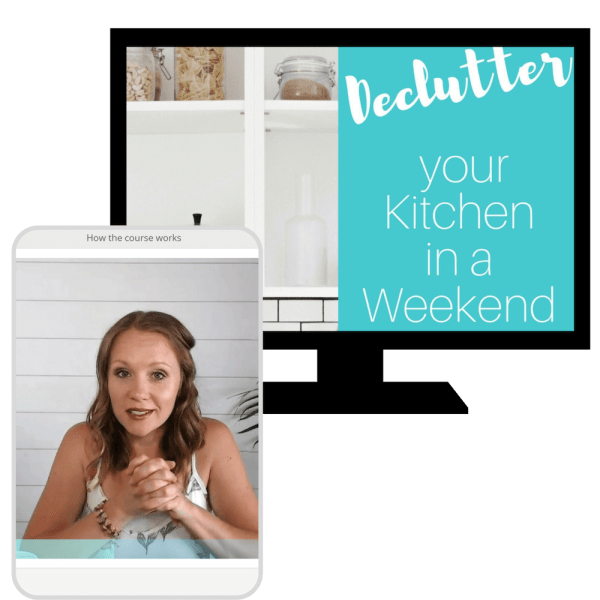 declutter kitchen in a weekend