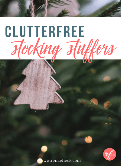 Clutterfree Stocking Stuffer Ideas for Kids
