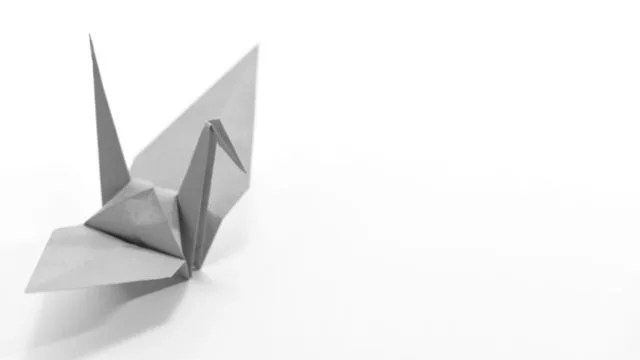 緑の折り鶴