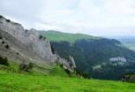 Blick auf dem Stauberenfirst zur Alp Sigel