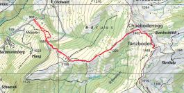 Die Route (Quelle: map.geo.admin.ch)