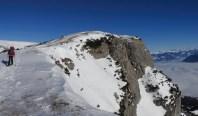 Der Gipfel in Sichtweite (zweiter Steinmann)