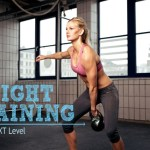 Women weight training