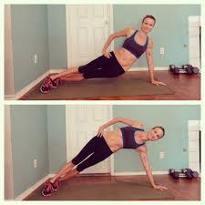 Straight arm side plank