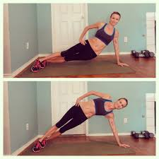Straight arm side plank