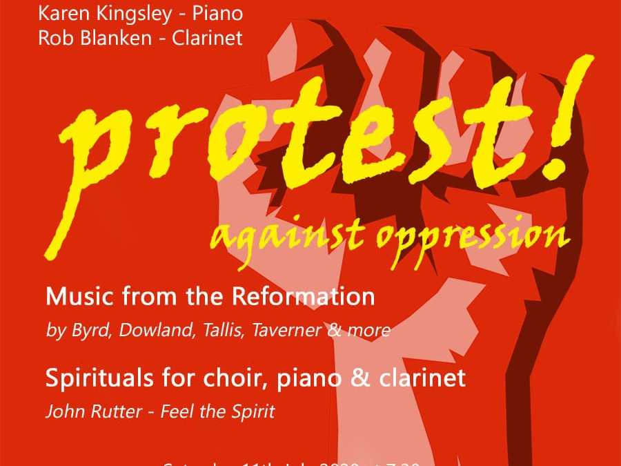 "Notes on the ""Protest"" concert (July 2020) that never was, written by our MD, Peter Gambie"