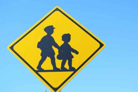 下校時の通学路