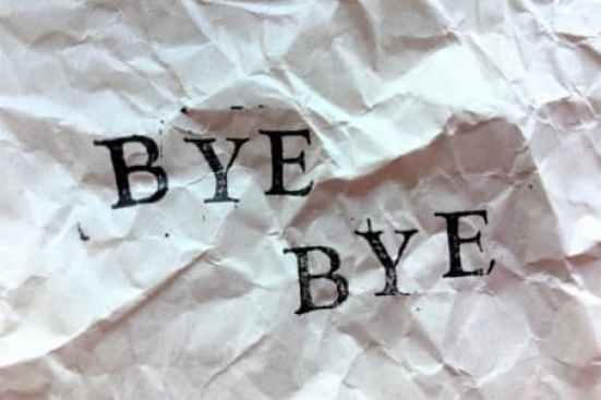 別れを告げられる