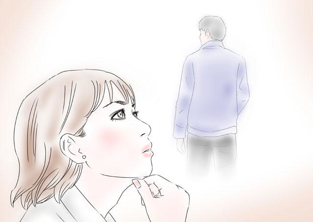 復縁相手のことをふと思い返す女性