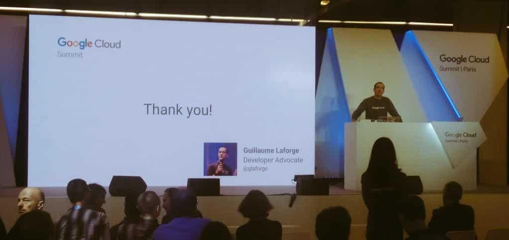 Paris 2017 Google Cloud Summit conference