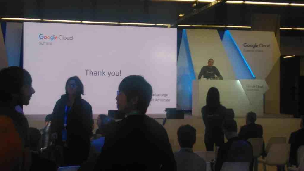 Paris 2017 Google Cloud Summit dev conference