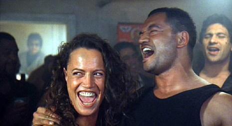 Beth (Rena Owen) and Jake (Temuera Morrison) enjoy a lighter moment