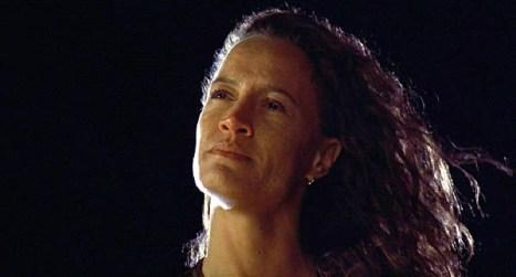 Beth (Rena Owen) breaks free of Jake