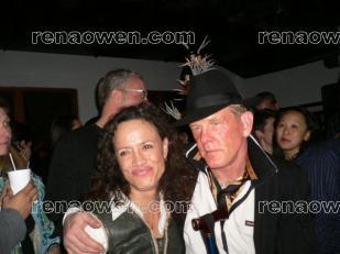 Rena with actor Nick Nolte