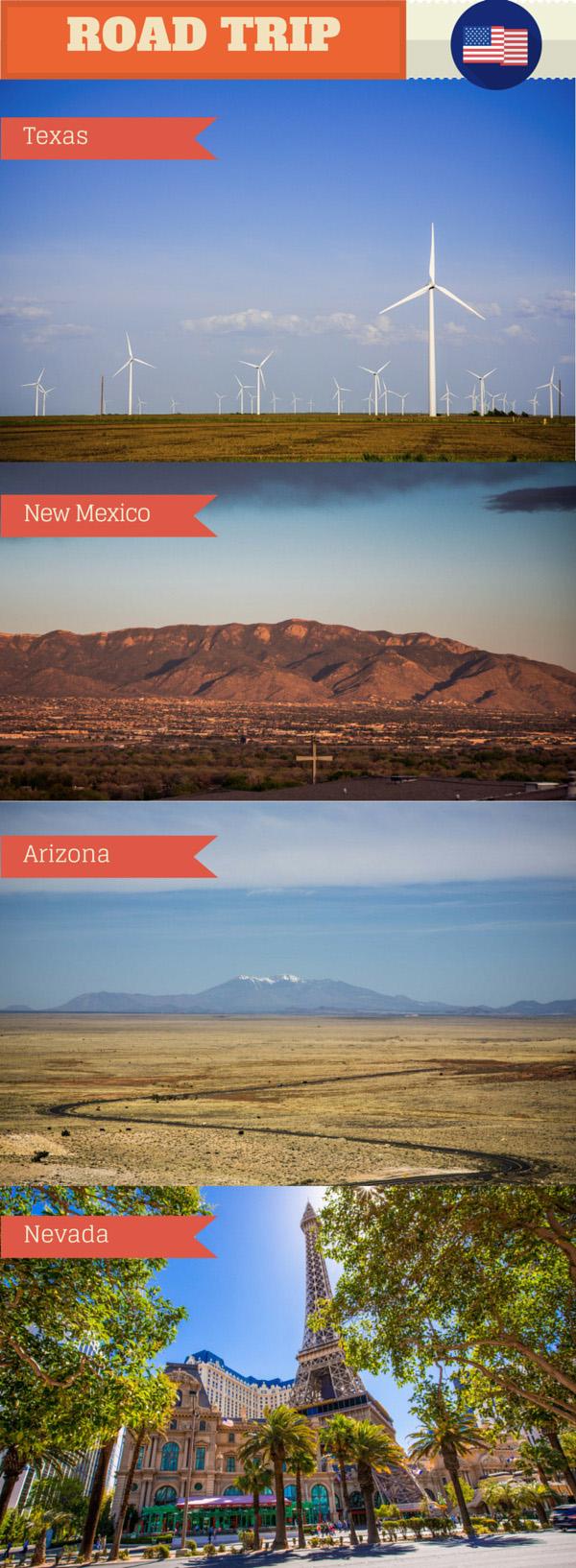 Viagem de carro do Texas até Las Vegas - Dia 1