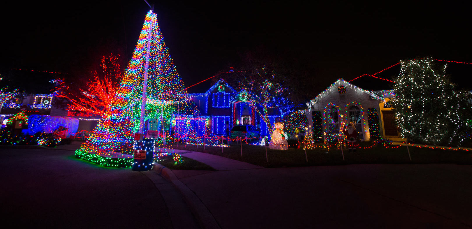 Austin Christmas Tree Part - 37: Christmas Lights In Austin, Texas